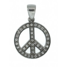 Peace with CZ Pendant